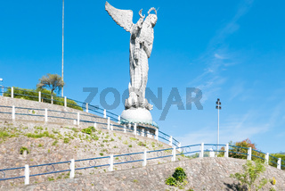 Access to the statue of the Virgin of the Panecillo Quito
