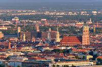 Aerial view of Munich. Munich, Bavaria, Germany
