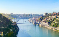 Douro river skyline Porto, Portugal