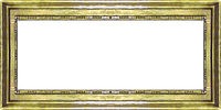 Golden Ornate Panoramic Frame Background