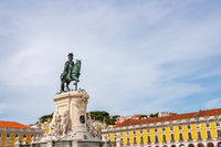 Statue of King Jose I in Commerce Square in Lisbon