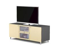 Tv on modern tv stand