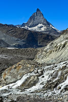 The Matterhorn seen from the Gorner Glacier, Zermatt, Valais, Switzerland