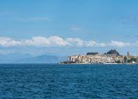 Old Town of Kerkyra on island of Corfu
