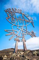 Mirador del Rio sign, Lanzarote, Canary Islands