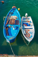 Two small fishing boats