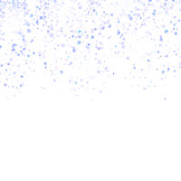 Blue Confetti Pattern Isolated on White Background