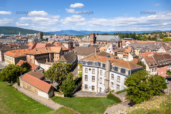 aerial view to Belfort France