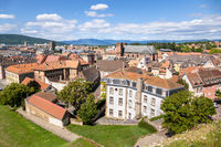 aerial view to Belfort France