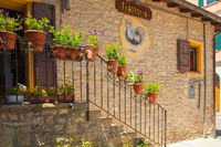 restaurant in a medieval building in Monfestino Modena Italy