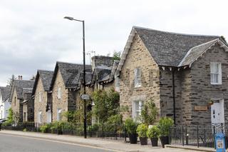 Wohnhäuser in Pitlochry in Schottland