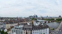 Luftaufnahme von Frankfurt am Main Skyline