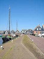 Village of Marken at Markermeer,part of Ijsselmeer,Netherlands