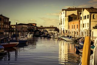 Panoramic view Murano island in the Venetian lagoon
