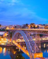 Dom Luis Bridge, Porto skyline