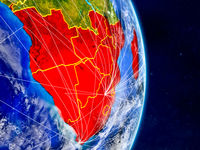 Southern Africa on Earth with networks