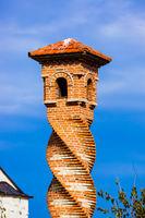 Spiral tower in Kovilj Monastery - Fruska Gora - Serbia