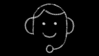 consultant icon drawn in chalkboard drawing style, animated footage ideal for compositing and motiongrafics