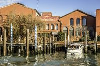 Murano island in the Venetian lagoon