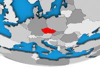 Czech republic on 3D globe
