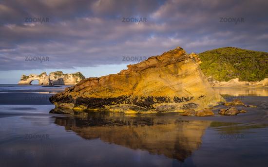 Rock Formations on Wharariki Beach, New Zealand