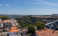 View towards the River Douro from the tower of Cathedral in Porto