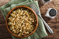 Roasted or Fried Cauliflower Rice