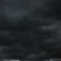 Black heavy clouds