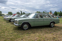 Row of executive cars Mercedes-Benz 200D (W115), 1973.