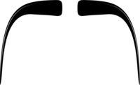 Fu Manchu Moustache Icon Vecor