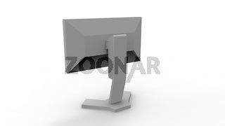 3d rendering of a computer screen isolated in white studio background