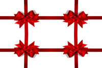 Decorative red satin bow frame
