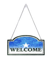 Somalia welcomes you! Old metal sign isolated