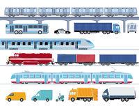 Public bus transport illustration
