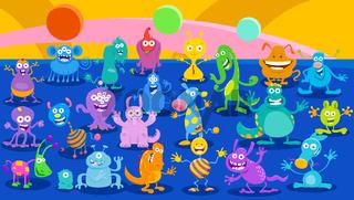 Cartoon Monster or Alien Fantasy huge group