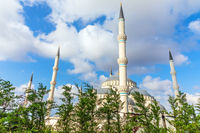 Camlica Mosque in the trees, Istanbul, Turkey