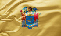 Waving state flag of New Jersey - United States of America