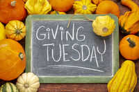Giving Tuesday blackboard sign