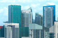 Skyscrapers Singapore Downtown Marina Bay
