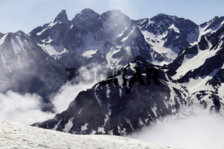 Sonne, Wolken, Schnee, Allgäuer Alpen,