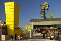 disused coal mine Westfalen, Ahlen, North Rhine-Westphalia, Germany, Europe