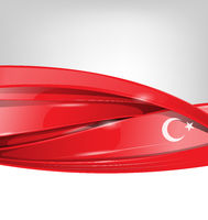 turkey background with  flag element. vector illustration