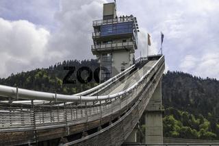 Schanzenturm und Sprungschanze, Skisprung-Arena, Oberstdorf, Allgäu