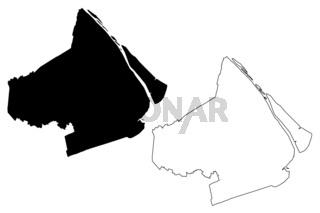 Soc Trang Province map vector