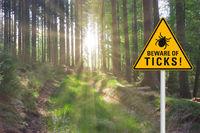 Attention beware of ticks