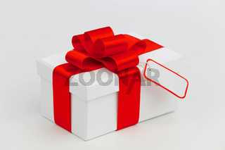 Holiday gift with tag