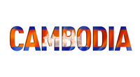 cambodian flag text font