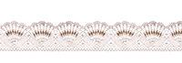 Pastel lace ribbon isolated shot