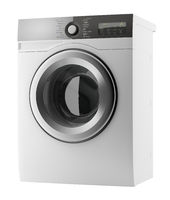 modern washing machine isolated on white background