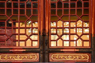 traditional temple door and window